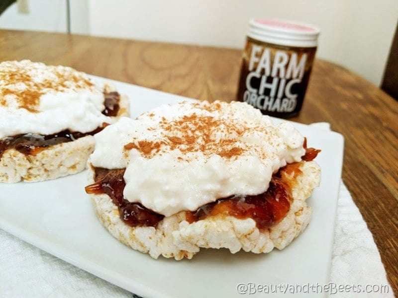 Rice Cake Jam Cottage Cheese Breakfast Beauty and the Beets