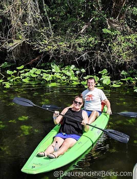 Wekiva River double kayak Beauty and the Beets