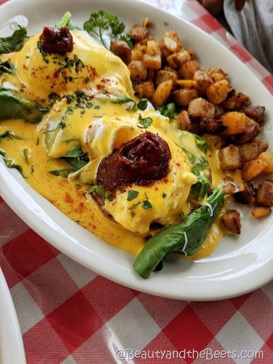 Jailhouse Cafe Moab Southwestern Eggs Benedict Beauty and the Beets