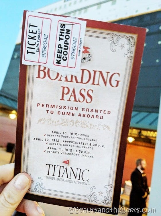 Titanic Museum Branson Boarding Pass Beauty and the Beets