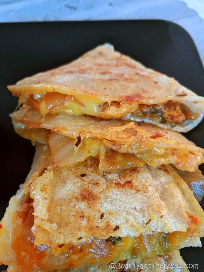 Beauty and the Beets Kimchi Quesadilla