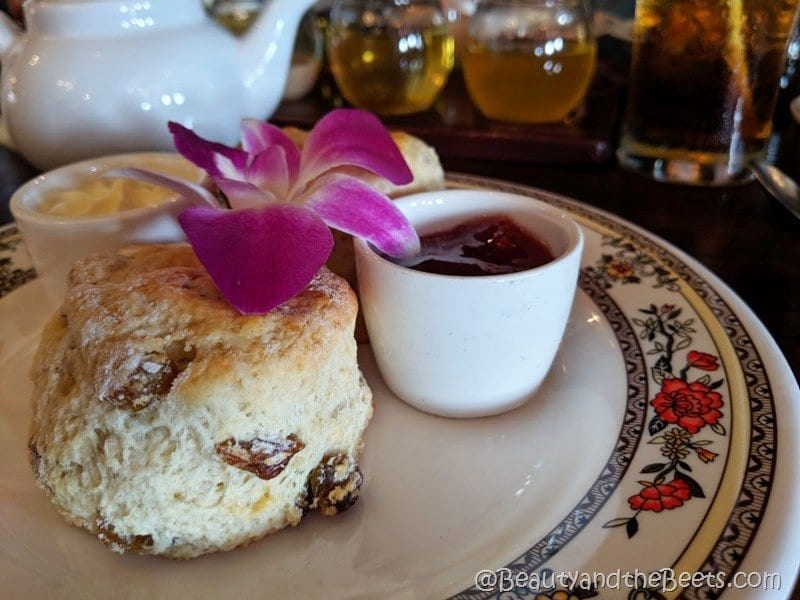 Disney Tea Experience scone Beauty and the Beets
