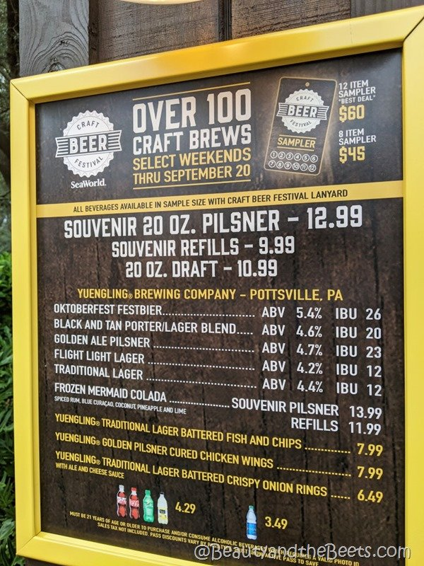 100 beers Sea World Orlando Craft Beer Festival Beauty and the Beets