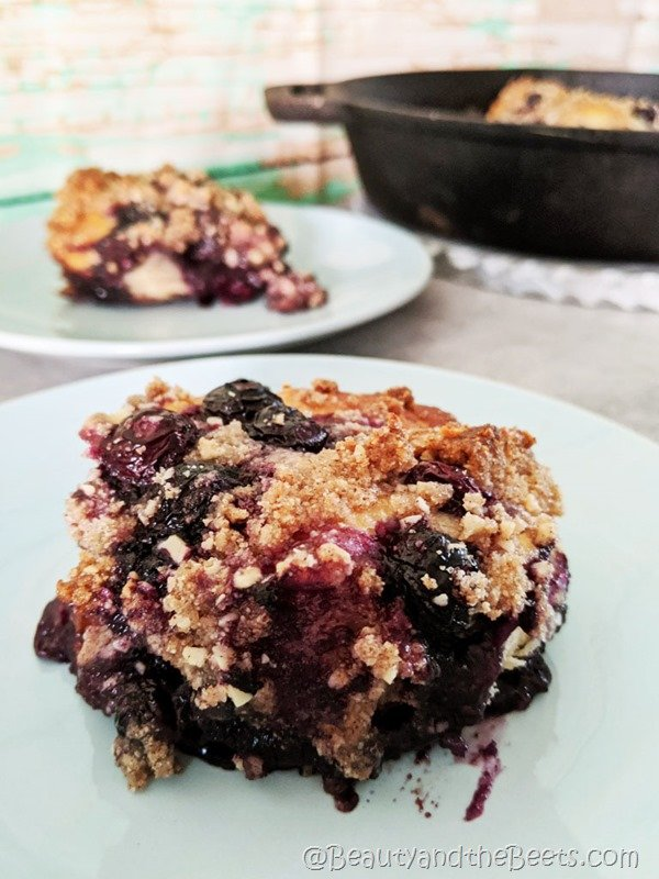 Cake Blueberry Skillet Beauty and the Beets