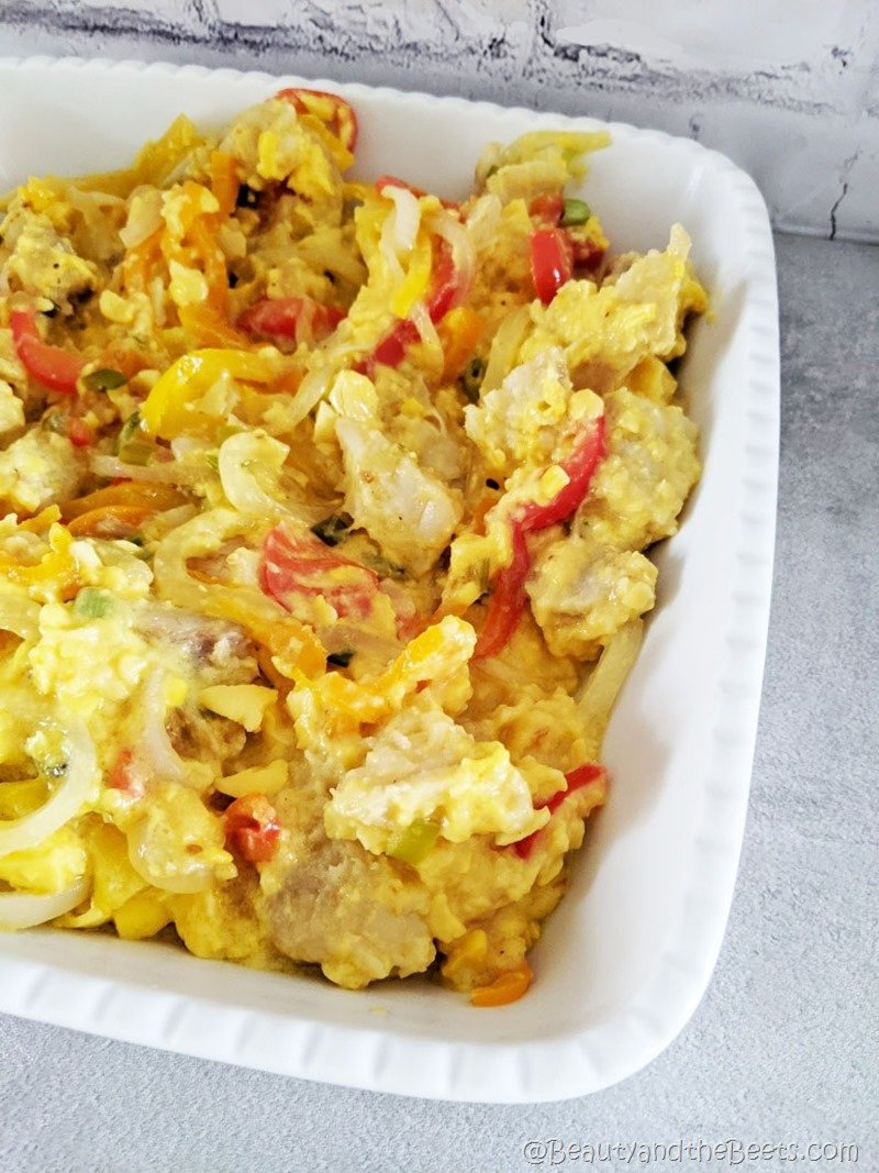 Ackee and Saltfish Dish Beauty and the Beets