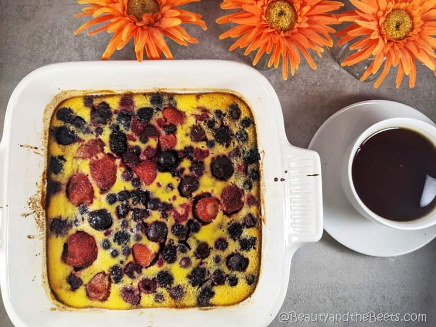 Cheery Cherry Berry Breakfast Custard Beauty and the Beets coffee flowers