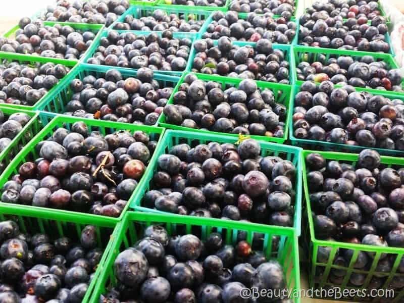 Farmers Market Blueberries Beauty and the Beets
