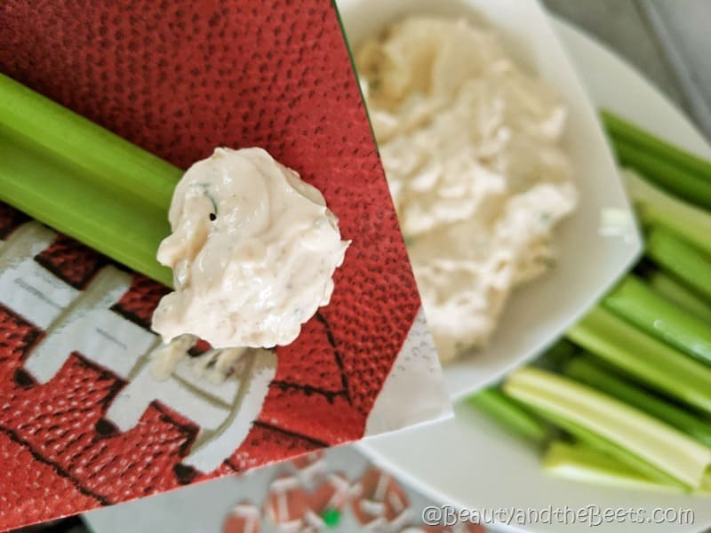Football game dip Buffalo Blue Cheese Dip Beauty and the Beets