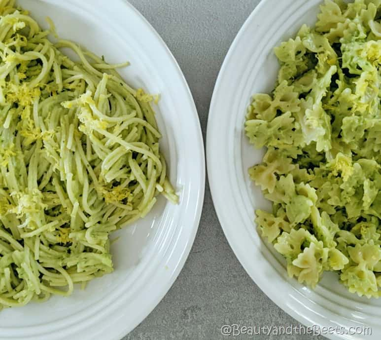 Avocado Pasta duo Beauty and the Beets