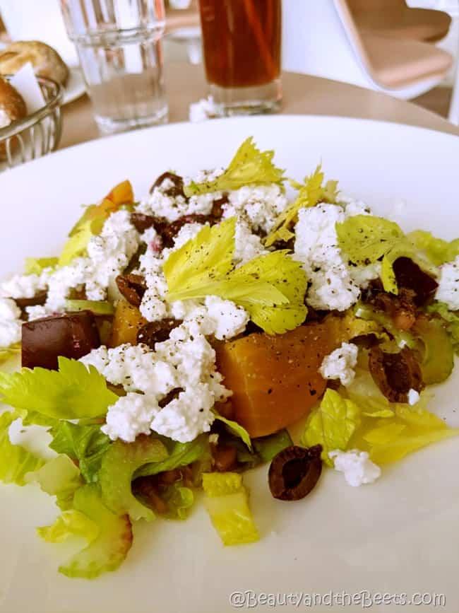 Beet Greek Salad TWA Hotel Beauty and the Beets