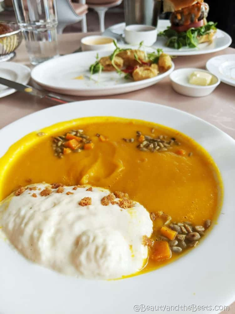 Butternut Squash Soup Paris Cafe Beauty and the Beets TWA Hotel