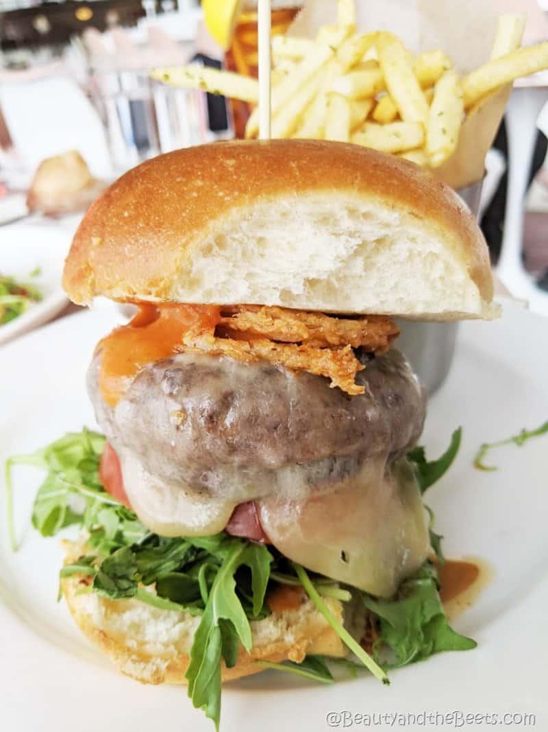 Cheddar Cheeseburger Paris Cafe TWA Hotel Beauty and the Beets
