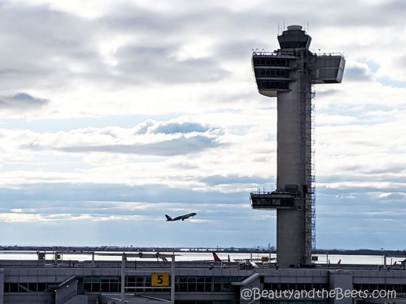 JFK Airport tower takeoff Beauty and the Beets