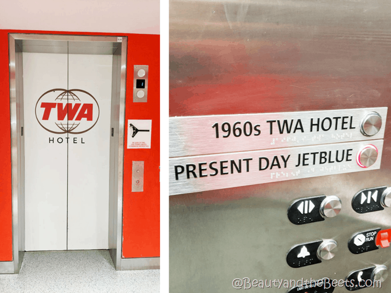TWA Hotel Elevator Beauty and the Beets