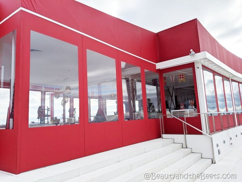 The Runway Chalet rooftop TWA Hotel Beauty and the Beets