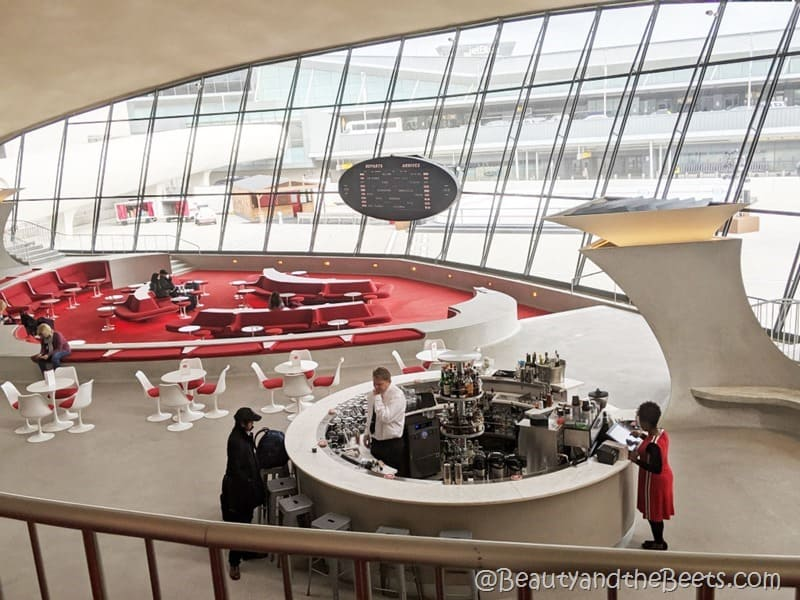 The Sunken Lounge overview TWA Hotel Beauty and the Beets