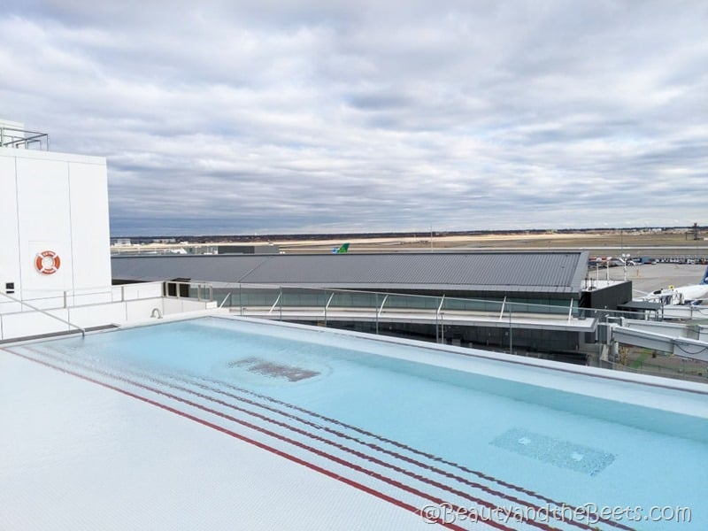 rooftop pool cuzzi TWA Hotel Beauty and the Beets