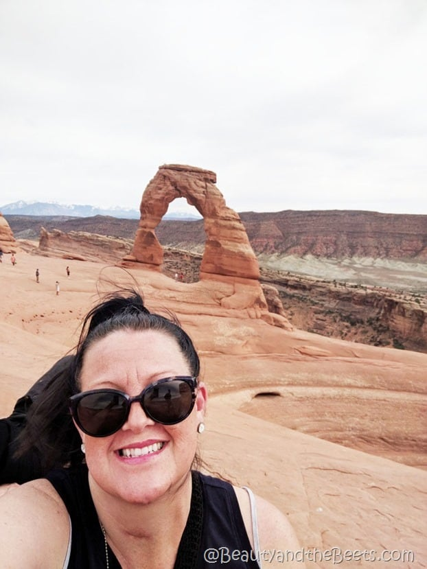 The hike to the Delicate Arch Beauty and the Beets