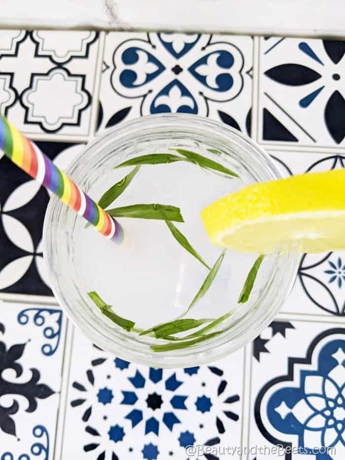 Tarragon syrup lemonade Beauty and the Beets