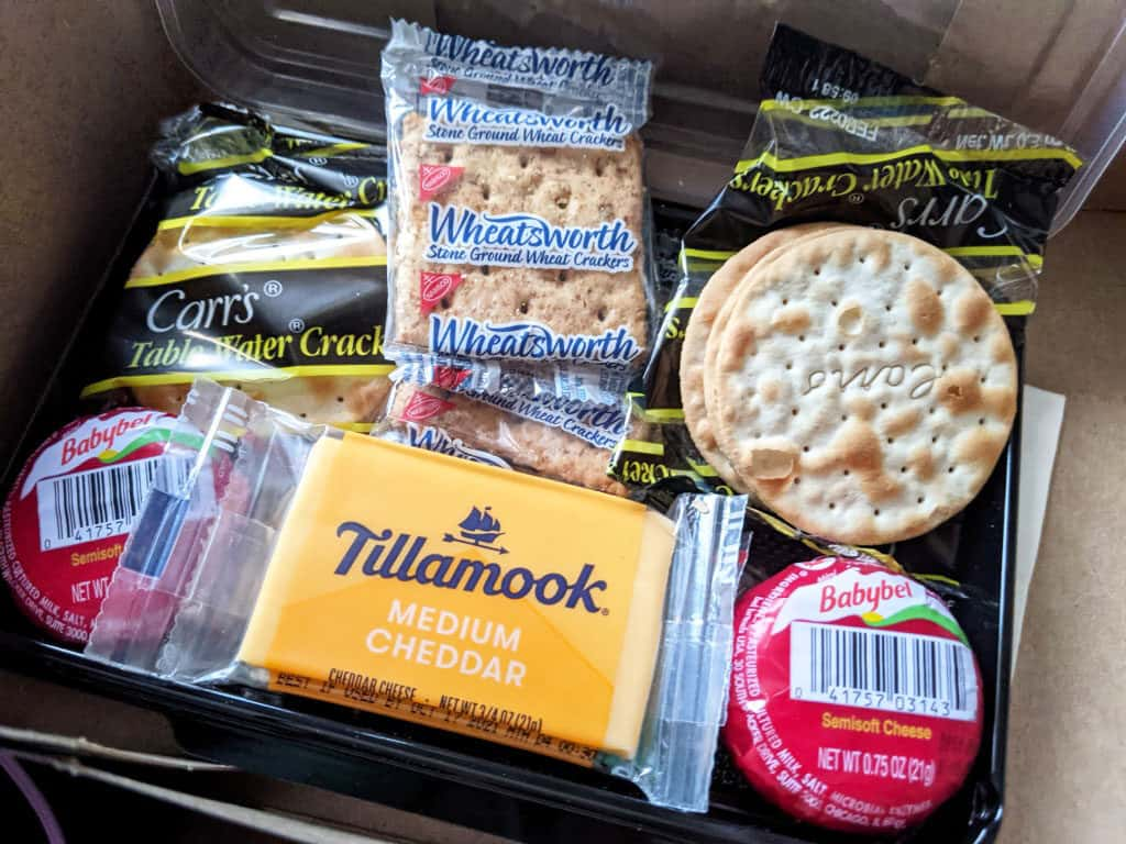 The cheese and crackers snack box