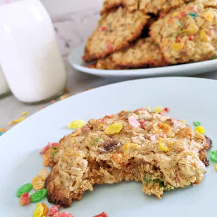 Fruity Pebbles Cereal Breakfast Cookies
