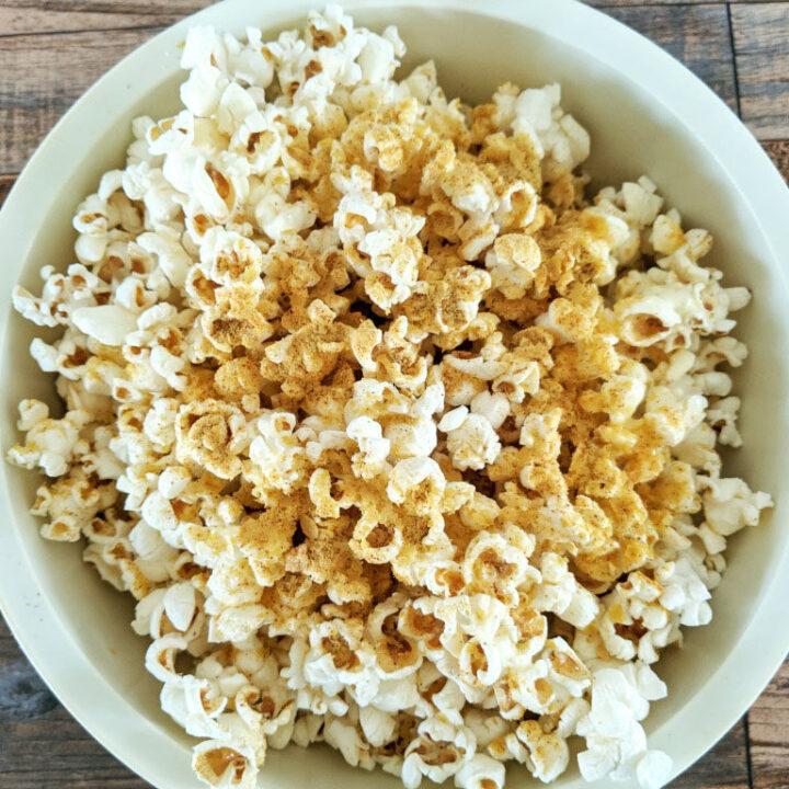Festive and Spicy Nacho Popcorn