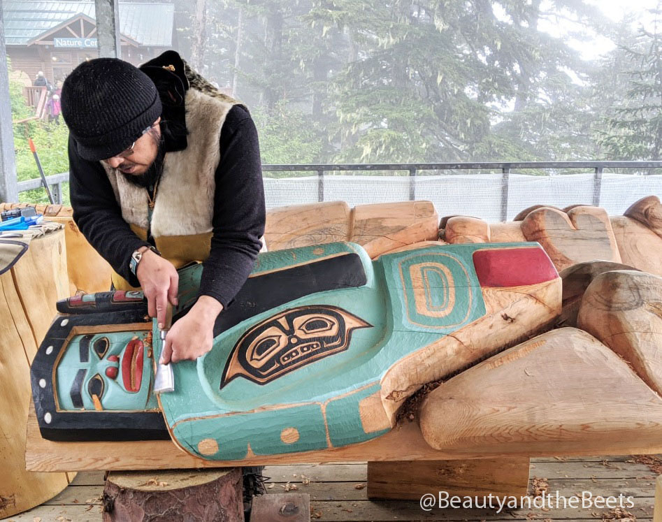 The Tlingit People were the first residents of Alaska and their history is celebrated with a short film you can watch atop Mt Roberts